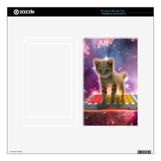 keyboard cat - tabby cat - kitty skin for kindle fire