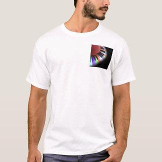 Keyboard Chaos Bright on Black T-Shirt