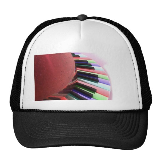 Keyboard Chaos Bright on Black Trucker Hat