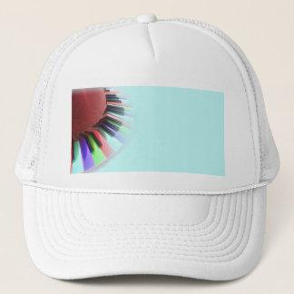Keyboard Chaos Bright on Blue Trucker Hat
