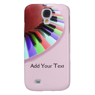 Keyboard Chaos Bright on Pink Galaxy S4 Covers