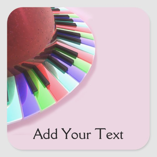 Keyboard Chaos Bright on Pink Square Sticker