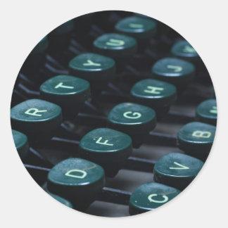 keyboard classic round sticker