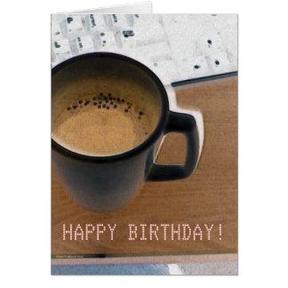 Keyboard Coffee Card
