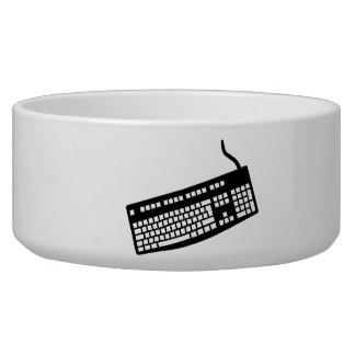 Keyboard computer dog food bowl