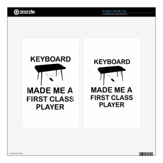 Keyboard design decals for kindle fire