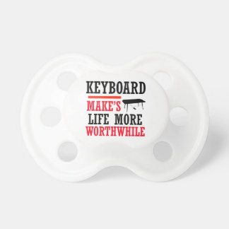 keyboard design baby pacifier