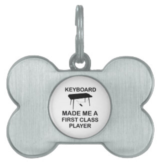 Keyboard design pet ID tag