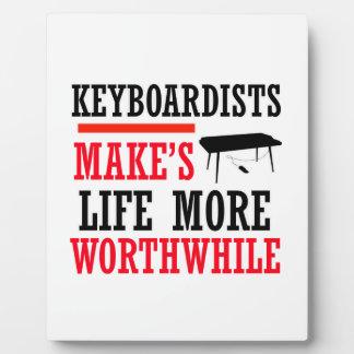keyboard design photo plaque