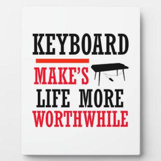 keyboard design display plaque