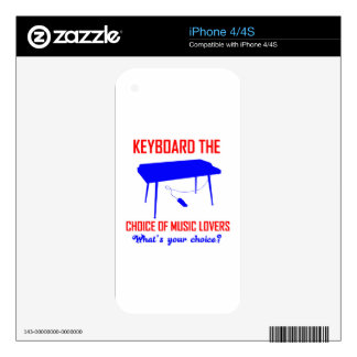 Keyboard designs skin for iPhone 4