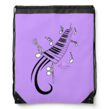 Keyboard Drawstring Backpack