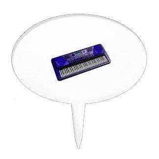 keyboard electronic dark blue.png cake topper