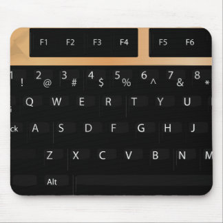 Keyboard - Gold Mouse Pad