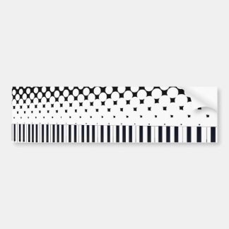 Keyboard Halftone Bumper Sticker