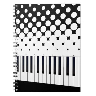 Keyboard Halftone Spiral Notebook
