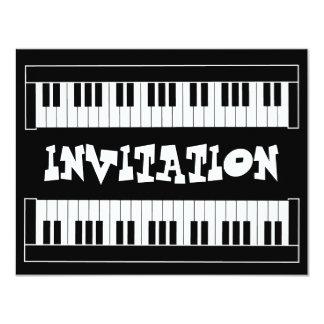 Keyboard Invitation 11 Cm X 14 Cm Invitation Card