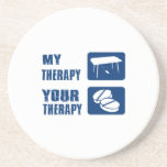 keyboard is my therapy drink coasters