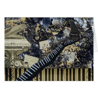 Keyboard Landscape Card