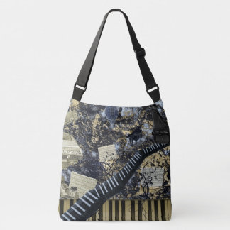 Keyboard Landscape Fantasy Scene Crossbody Bag
