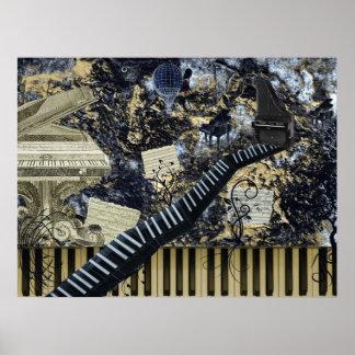 Keyboard Landscape Print