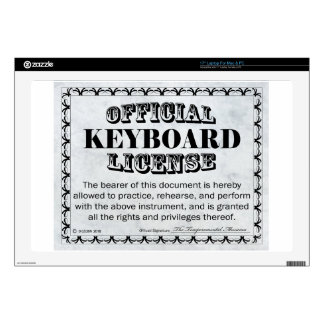 "Keyboard License 17"" Laptop Decal"