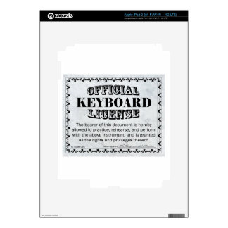 Keyboard License Decal For iPad 3