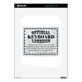 Keyboard License Skins For iPad 2