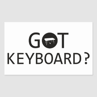 KEYBOARD music designs Rectangle Stickers