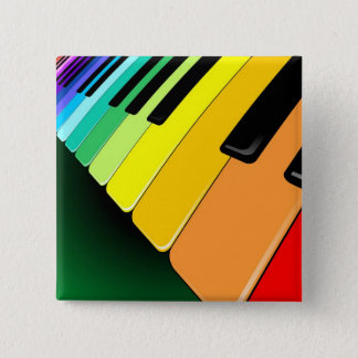 Keyboard Music Party Colors Button