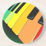 Keyboard Music Party Colors Drink Coasters