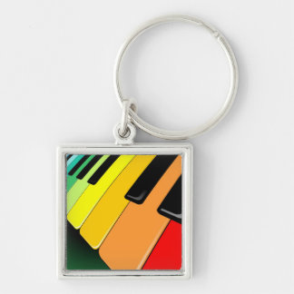 Keyboard Music Party Colors Keychain