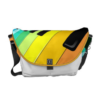 Keyboard Music Party Colors Messenger Bag