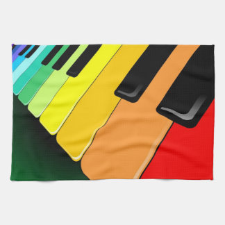 Keyboard Music Party Colors Towels