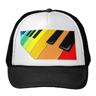 Keyboard Music Party Colors Trucker Hat