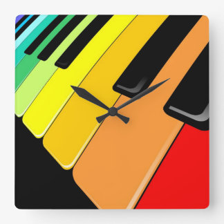 Keyboard Music Party Colors Wall Clock