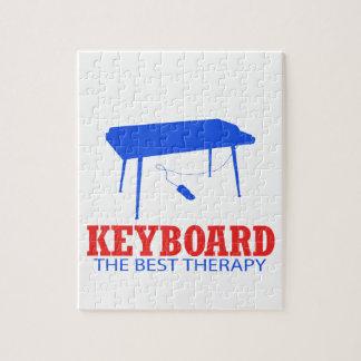 Keyboard Musical designs Jigsaw Puzzle