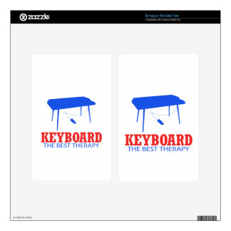 Keyboard Musical designs Kindle Fire Decal