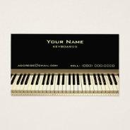 Keyboard Musician Business Card at Zazzle