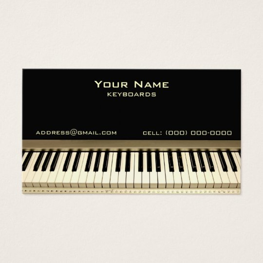 Keyboard Musician Business Card