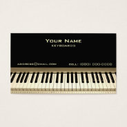 Keyboard Musician Business Card at Zazzle