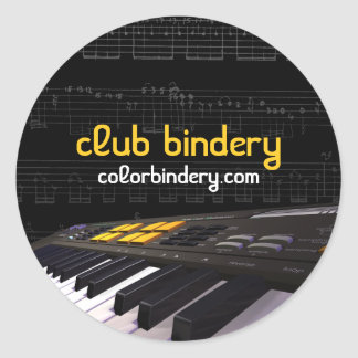 Keyboard Note Frenzy Promotion Stickers Round Sticker