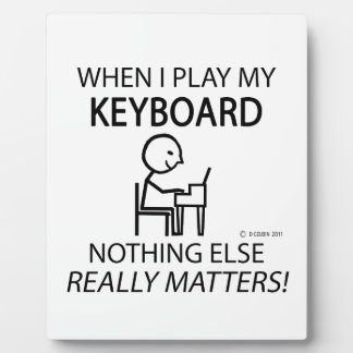 Keyboard Nothing Else Matters Display Plaques