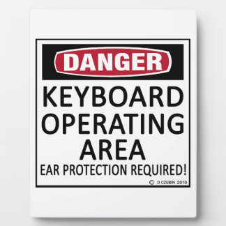 Keyboard Operating Area Display Plaques