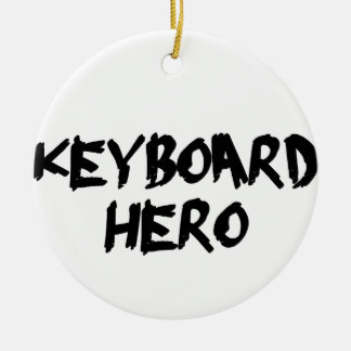 keyboard round ceramic ornament