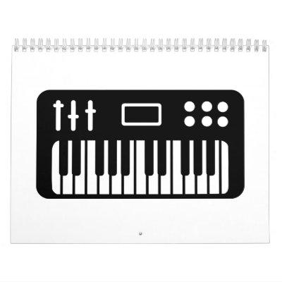 Keyboard piano calendar