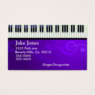 Keyboard Piano Couture Business Card