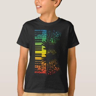 Keyboard Piano Gift Music Musician Instrument T-Shirt