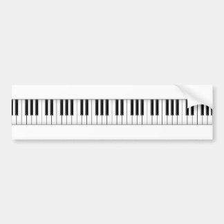Keyboard / Piano Keys: Bumper Sticker