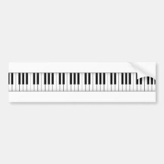 Keyboard / Piano Keys: Bumper Sticker